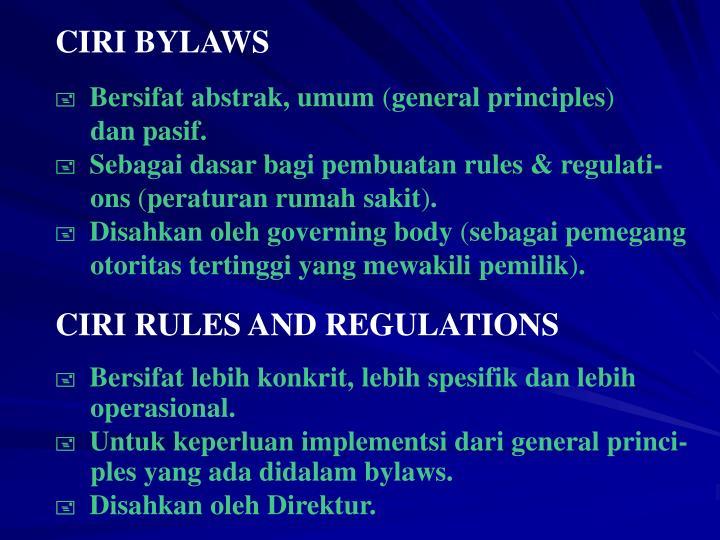 CIRI BYLAWS