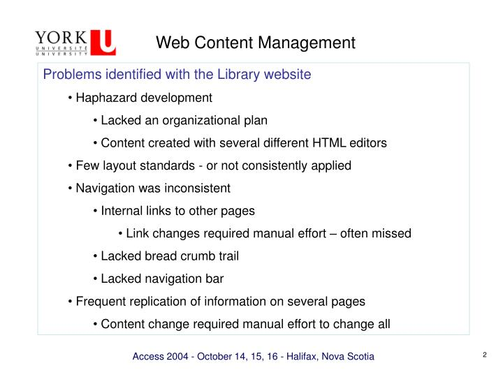 Web content management1