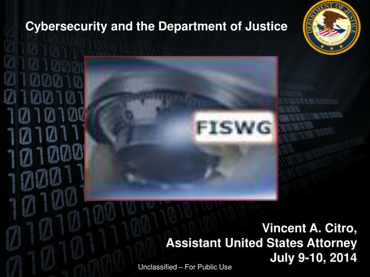 Cybersecurity and the Department of Justice