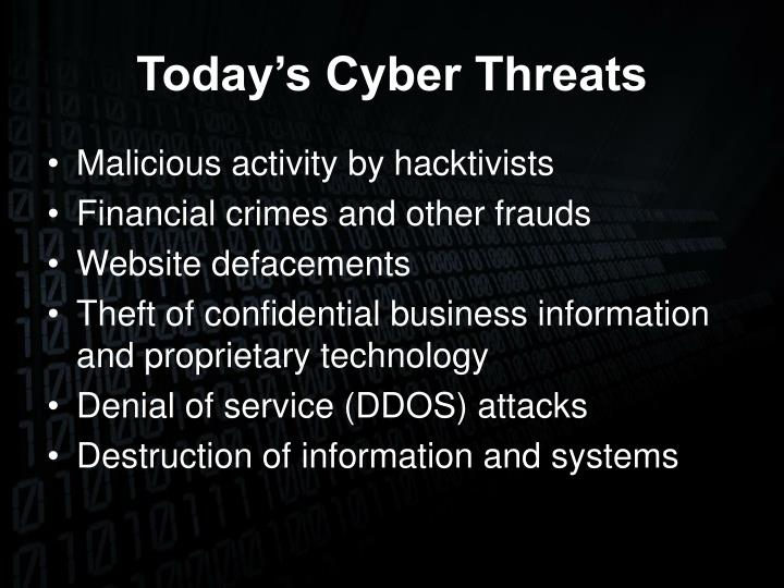 Today's Cyber Threats