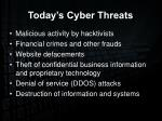 today s cyber threats