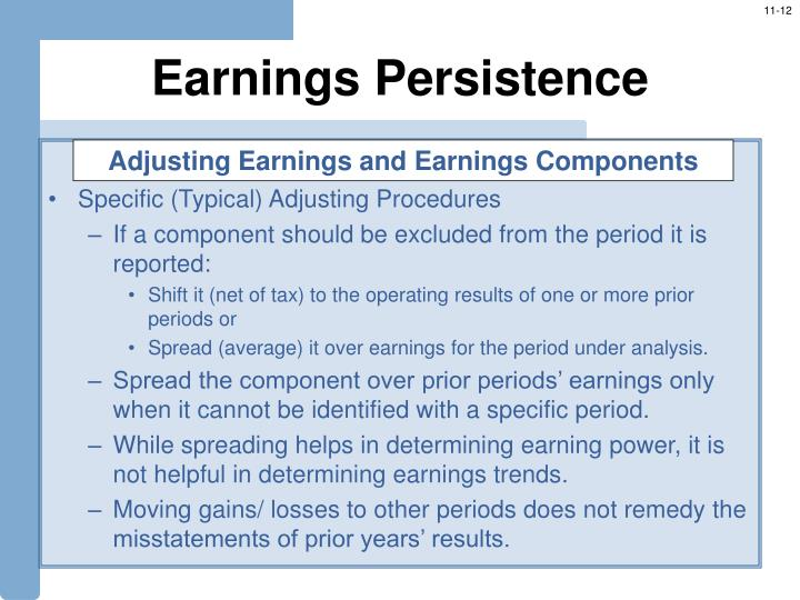 Earnings Persistence