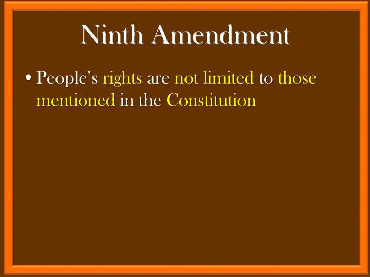 Ninth Amendment
