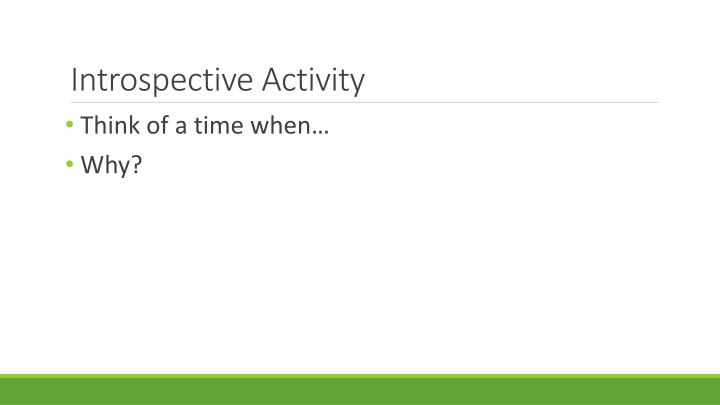 Introspective Activity