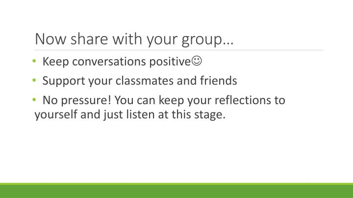 Now share with your group…