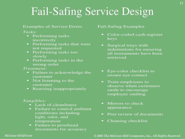 Fail-Safing Service Design