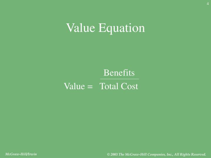 Value Equation
