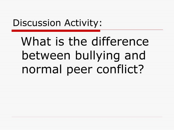 Discussion Activity:
