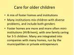 care for older children