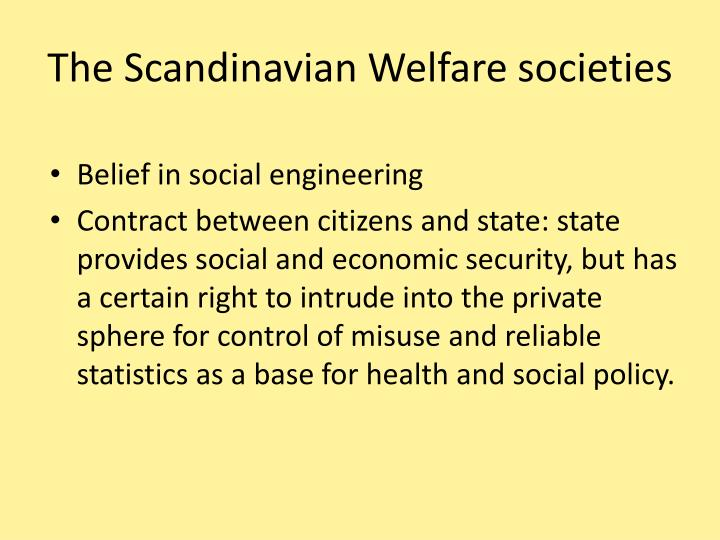 The Scandinavian Welfare