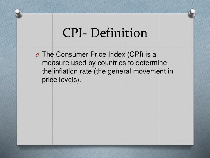 CPI- Definition