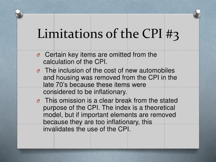 Limitations of the CPI
