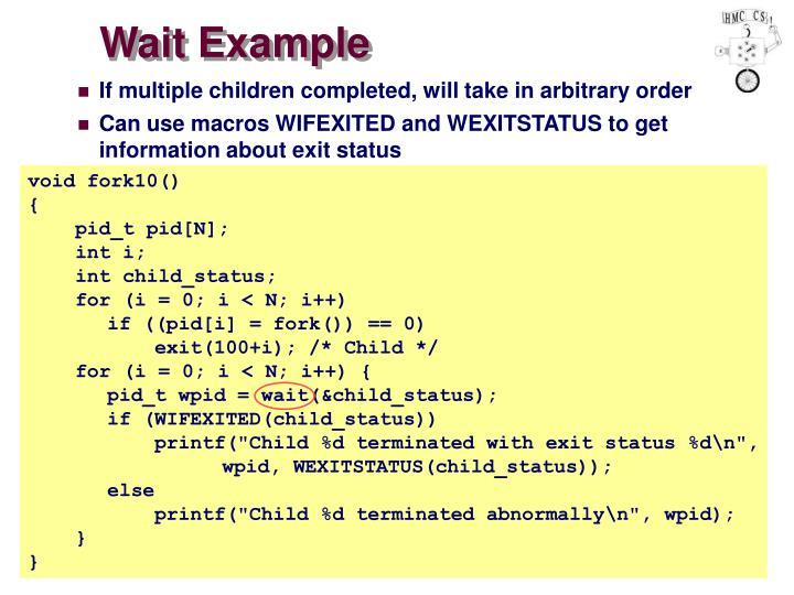 Wait Example
