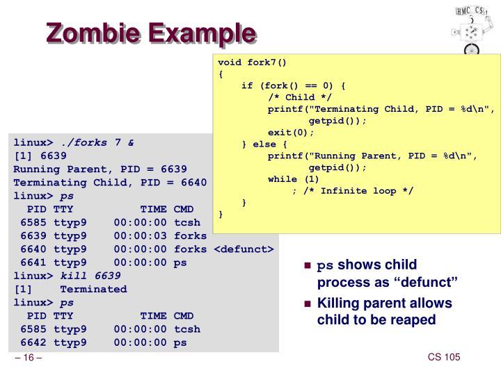 Zombie Example