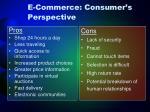 e commerce consumer s perspective