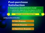 post purchase satisfaction