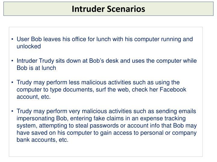 Intruder Scenarios