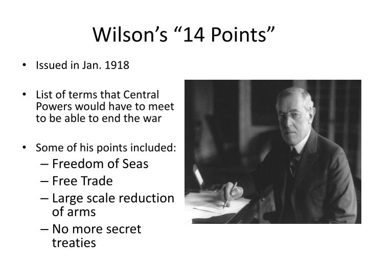 "Wilson's ""14 Points"""