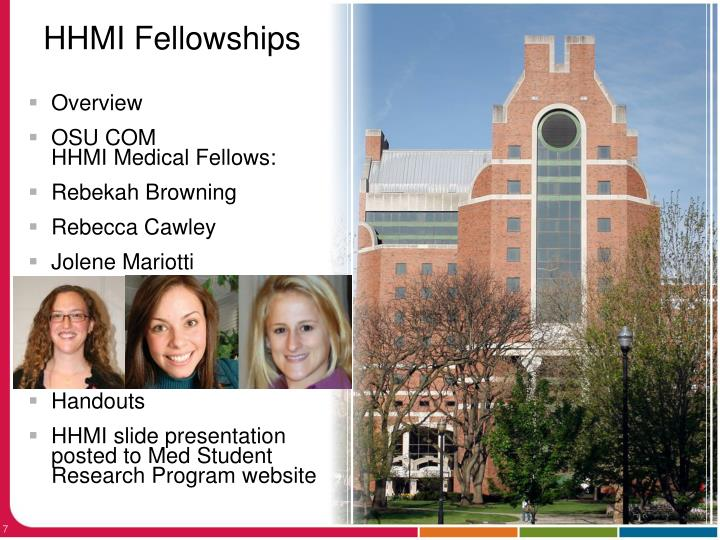 HHMI Fellowships