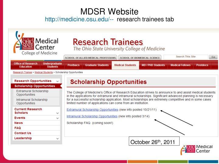 MDSR Website