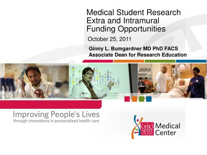 Medical student research extra and intramural funding opportunities