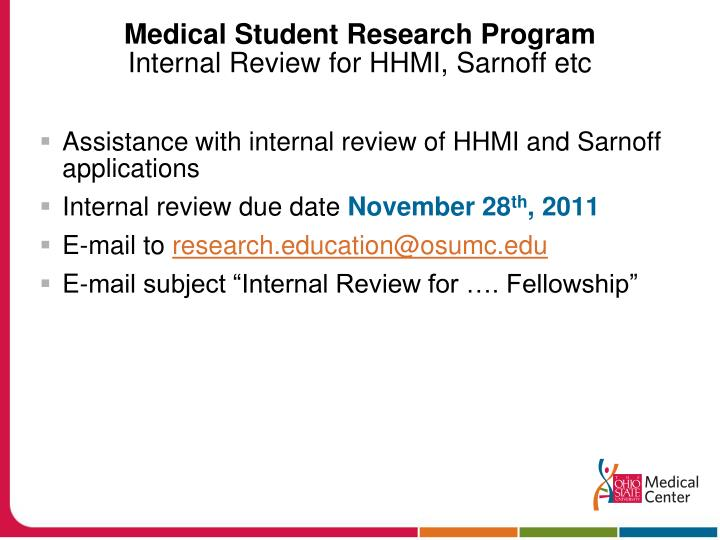 Medical Student Research Program