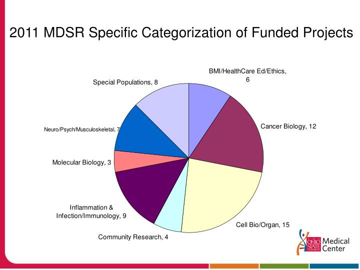 2011 MDSR Specific Categorization of Funded Projects