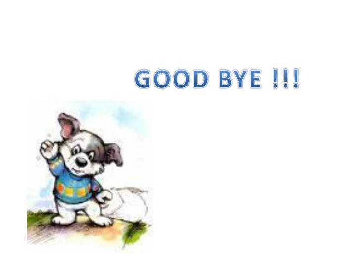 GOOD BYE !!!