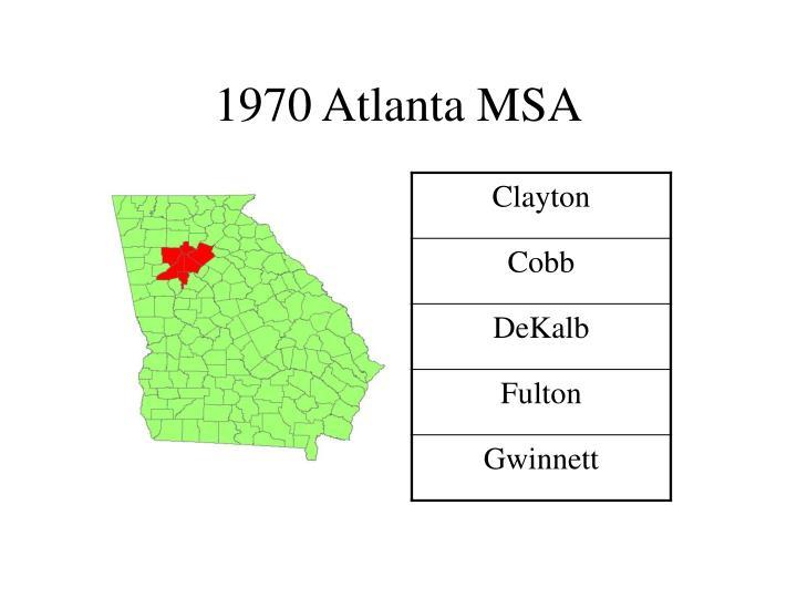 1970 Atlanta MSA