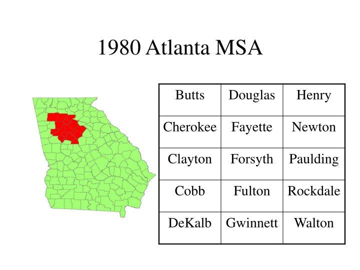 1980 Atlanta MSA