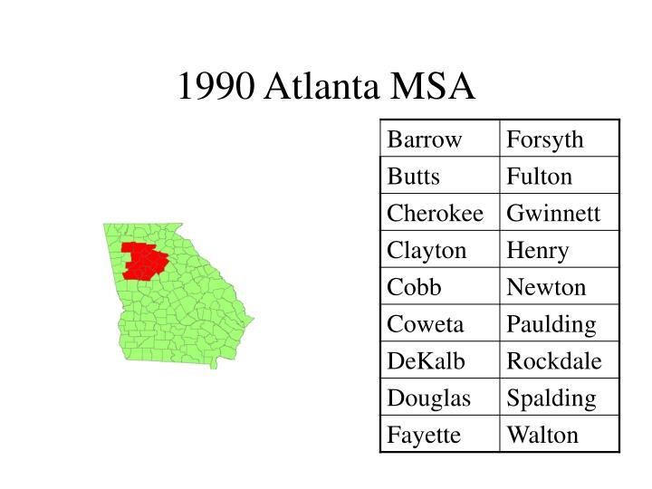 1990 Atlanta MSA