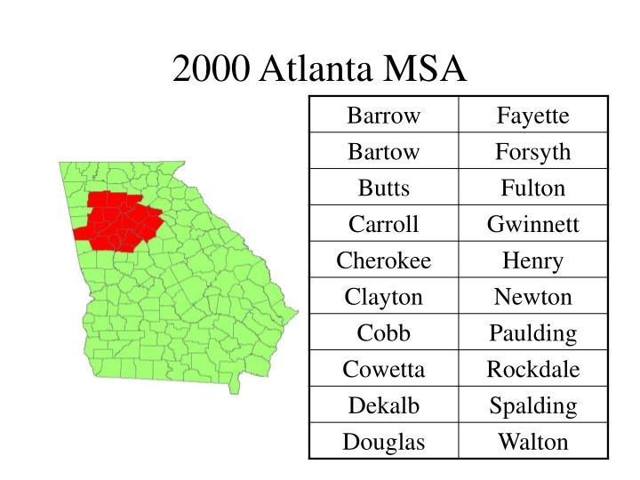 2000 Atlanta MSA