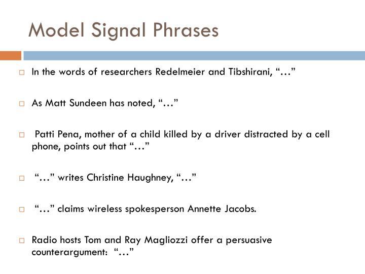 Model Signal Phrases