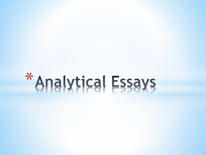how to write an analytical essay powerpoint