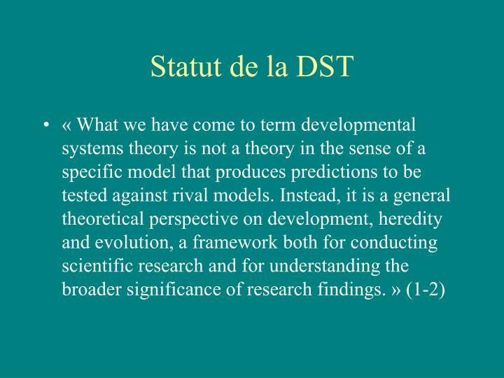 Statut de la DST