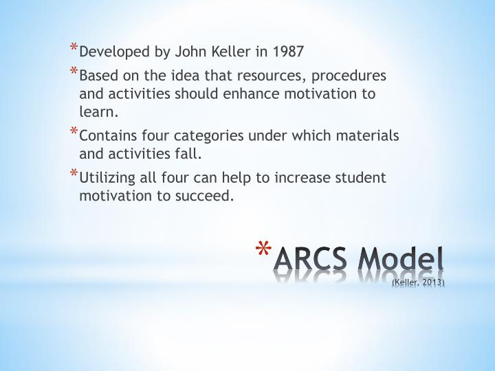 Developed by John Keller in 1987