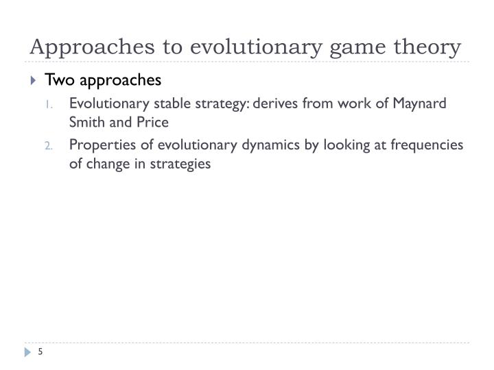 Approaches to evolutionary game theory