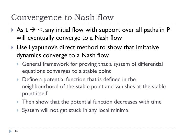 Convergence to Nash flow