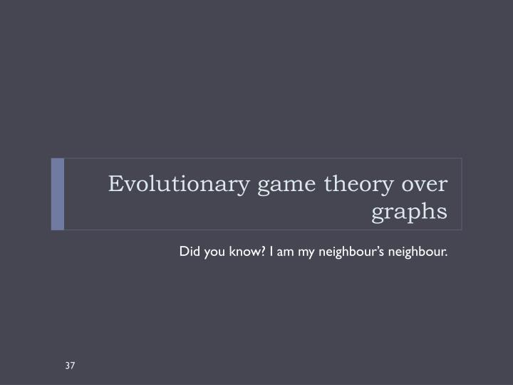 Evolutionary game theory over graphs