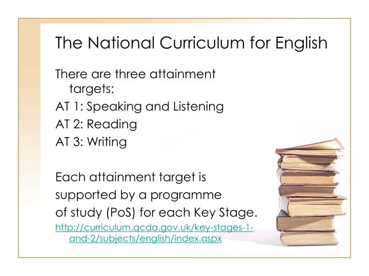 The National Curriculum for English