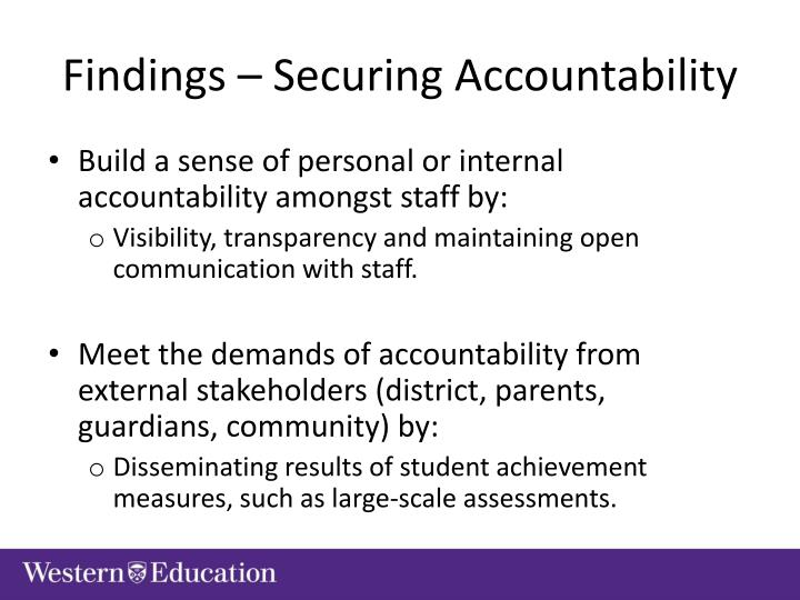 Findings – Securing Accountability