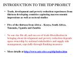 introduction to the tdp project