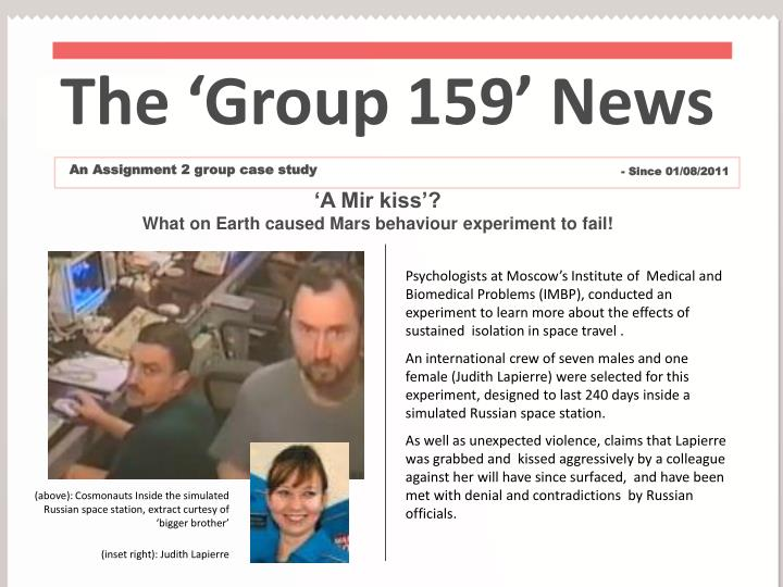 The 'Group 159' News