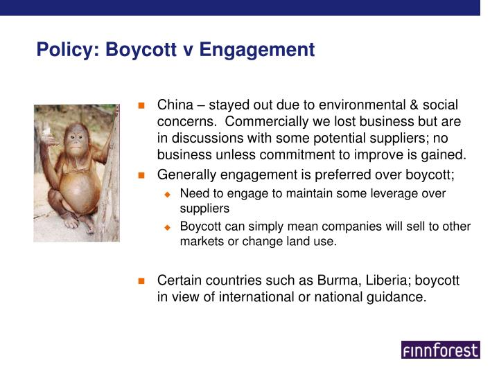Policy: Boycott v Engagement