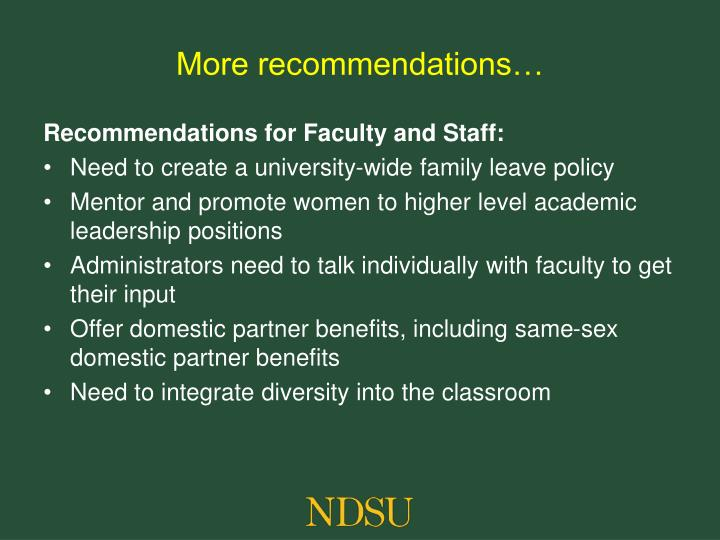 More recommendations…