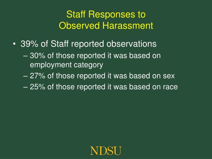 Staff Responses to