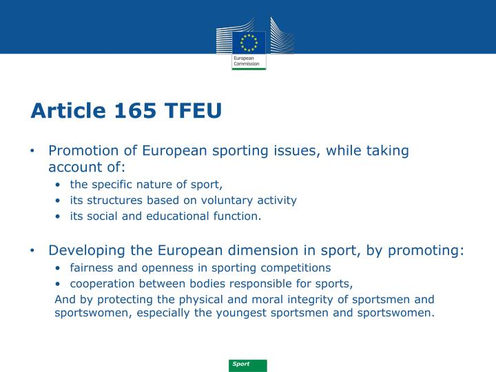 Article 165 TFEU