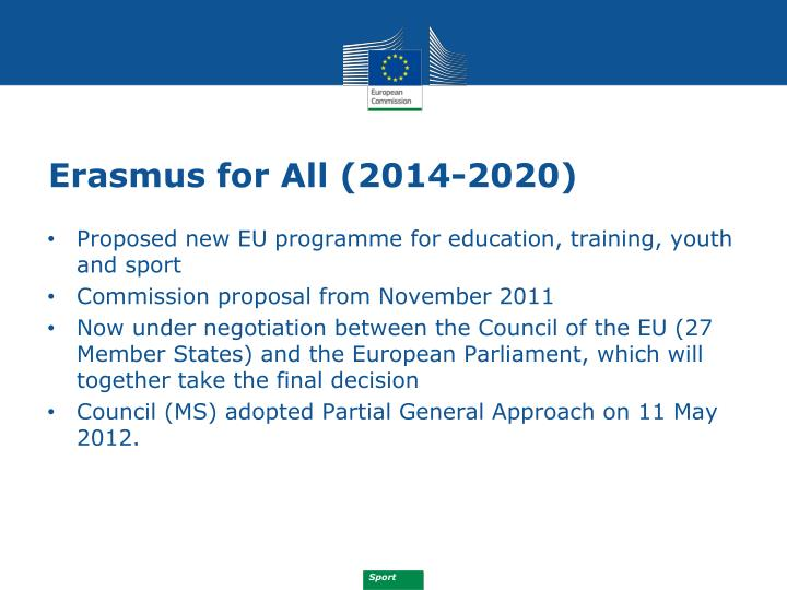 Erasmus for All (2014-2020)