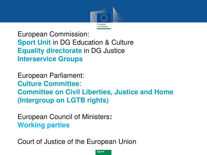 European Commission: