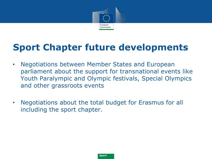 Sport Chapter future developments